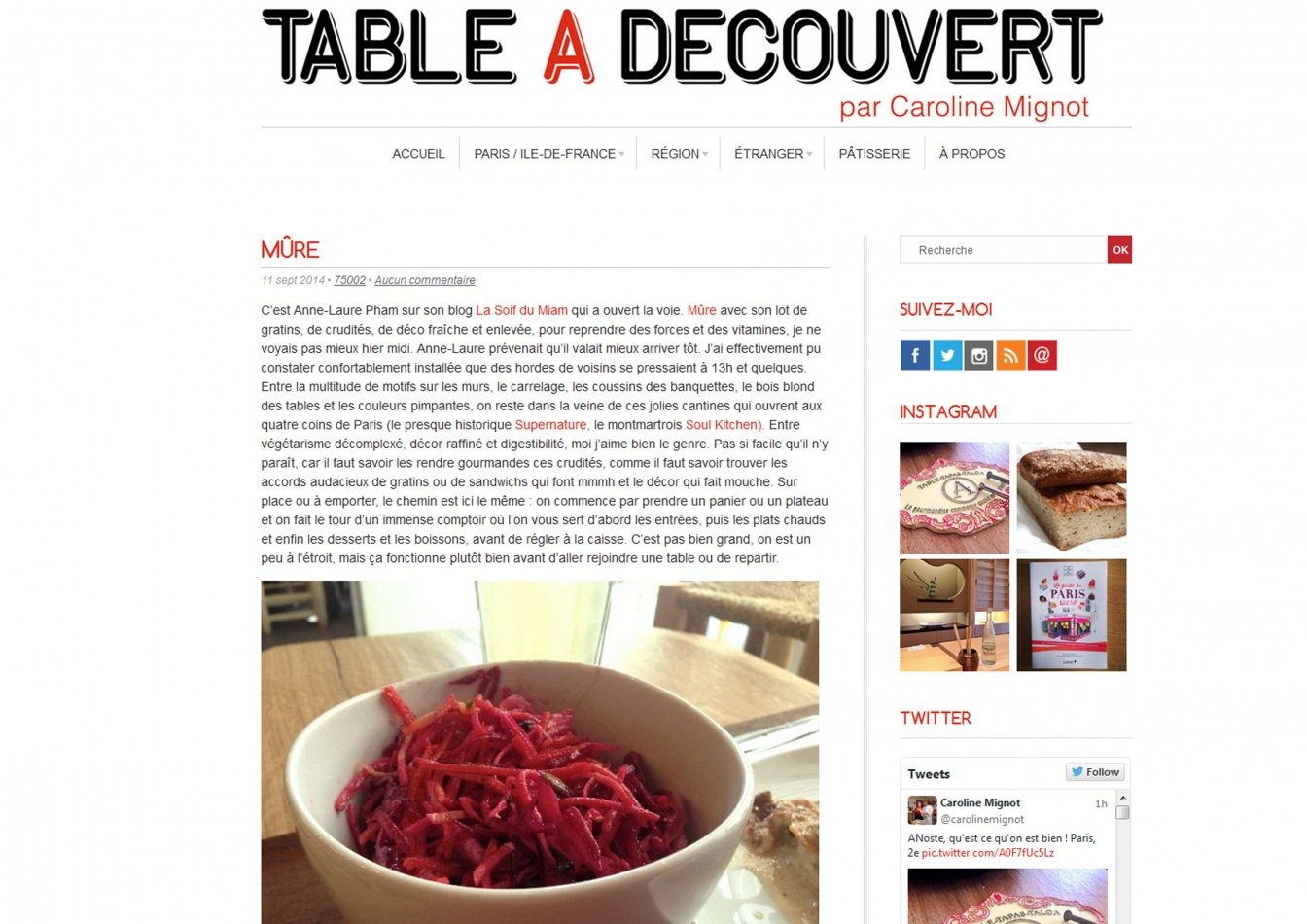 Les articles de presse sur m re restaurant design par t for Article de restaurant
