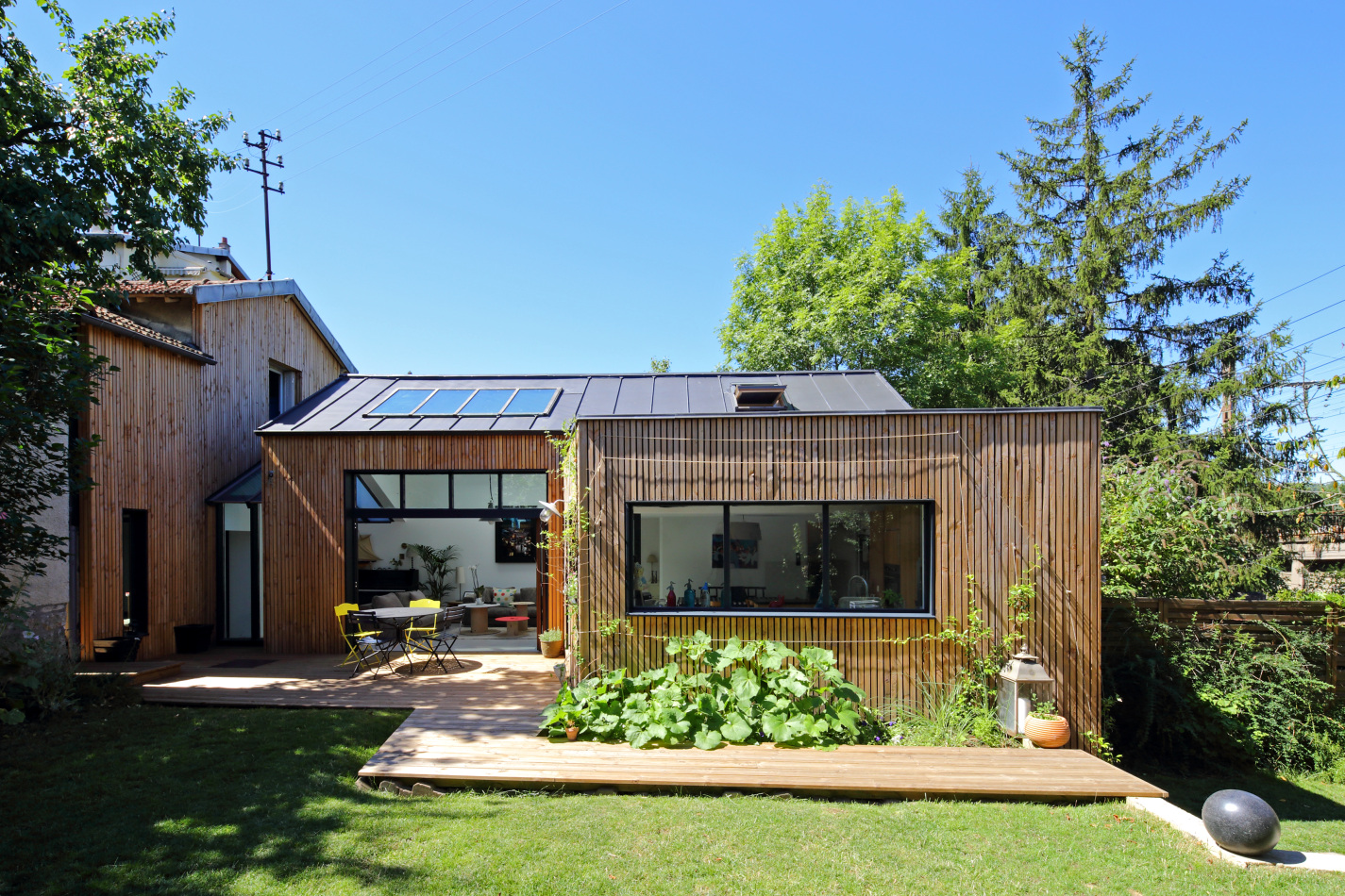 Extension en bois bbc s vres 2013 t design architecture for Maison et architecture