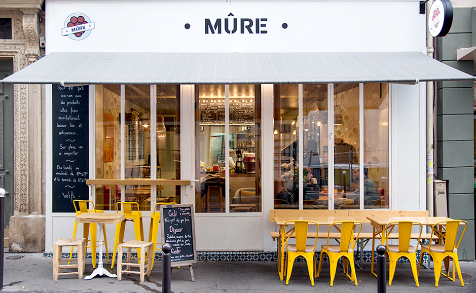Restaurant m re 2014 t design architecture for Table exterieur jaune
